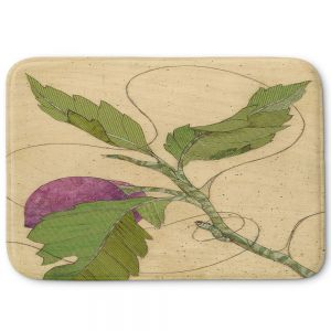 Decorative Bathroom Mats | Paper Mosaic Studio - Purple Flower