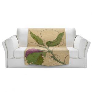 Artistic Sherpa Pile Blankets | Paper Mosaic Studio - Purple Flower