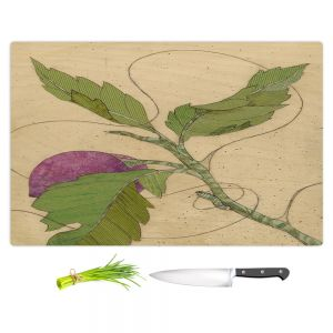 Artistic Kitchen Bar Cutting Boards | Paper Mosaic Studio - Purple Flower