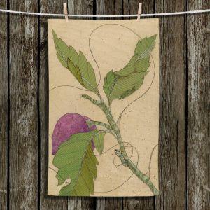 Unique Hanging Tea Towels | Paper Mosaic Studio - Purple Flower | Flowers Nature