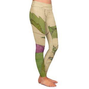 Casual Comfortable Leggings | Paper Mosaic Studio - Purple Flower