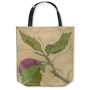 Unique Shoulder Bag Tote Bags | Paper Mosaic Studio - Purple Flower