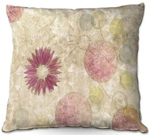 Throw Pillows Decorative Artistic | Paper Mosaic Studio - Reach | Nature floral bubble pattern