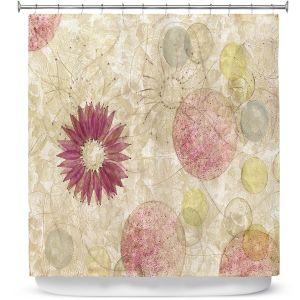 Premium Shower Curtains | Paper Mosaic Studio - Reach | Nature floral bubble pattern