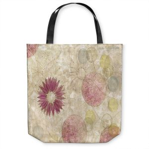 Unique Shoulder Bag Tote Bags | Paper Mosaic Studio - Reach | Nature floral bubble pattern