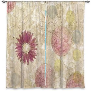 Unique Window Curtains Lined 80w x 52h from DiaNoche Designs by Paper Mosaic Studio - Reach