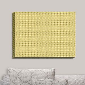 Decorative Canvas Wall Art | Paper Mosaic Studio - Tan Dots | Patterns