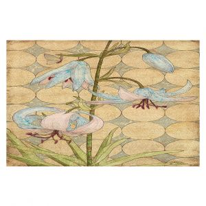 Decorative Area Rug 2 x 3 Ft from DiaNoche Designs byPaper Mosaic Studio - Tiger Lily