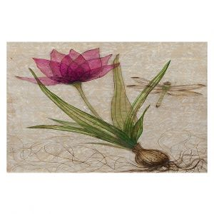 Decorative Floor Covering Mats | Paper Mosaic Studio - Uprooted 3 | Flower bulb root floral