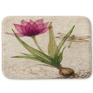 Decorative Bathroom Mats | Paper Mosaic Studio - Uprooted 3 | Flower bulb root floral