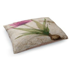 Decorative Dog Pet Beds | Paper Mosaic Studio - Uprooted 3 | Flower bulb root floral