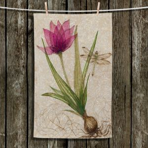 Unique Bathroom Towels | Paper Mosaic Studio - Uprooted 3 | Flower bulb root floral