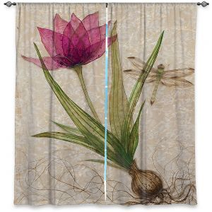 Decorative Window Treatments | Paper Mosaic Studio - Uprooted 3 | Flower bulb root floral