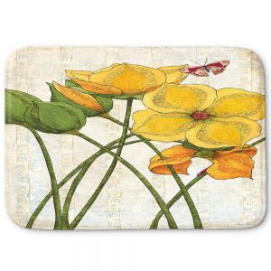 Decorative Bathroom Mats | Paper Mosaic Studio - Yellow Flower | Floral nature