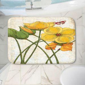 Decorative Bathroom Mats | Paper Mosaic Studio - Yellow Flower | Floral nature