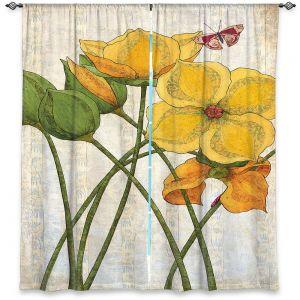 Decorative Window Treatments   Paper Mosaic Studio - Yellow Flower   Floral nature