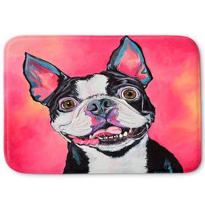 Decorative Bathroom Mats | Patti Schermerhorn - All Smiles Boston Terrier | Dog Animal