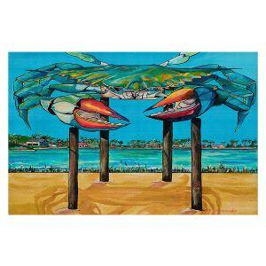 Decorative Floor Covering Mats | Patti Schermerhorn - Blue Crab Rockprot | Beach Party
