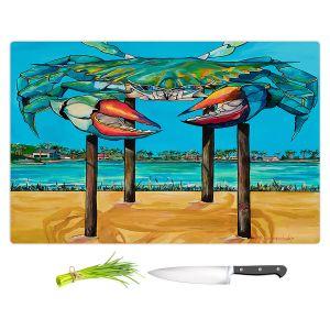 Artistic Kitchen Bar Cutting Boards   Patti Schermerhorn - Blue Crab Rockprot   Beach Party