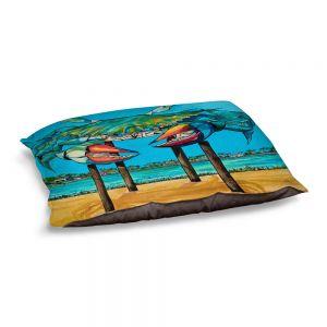 Decorative Dog Pet Beds | Patti Schermerhorn - Blue Crab Rockprot | Beach Party