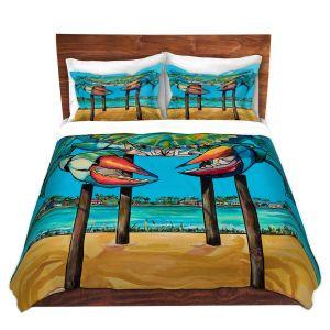 Artistic Duvet Covers and Shams Bedding | Patti Schermerhorn - Blue Crab Rockprot | Beach Party