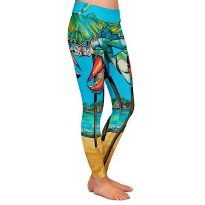 Casual Comfortable Leggings | Patti Schermerhorn - Blue Crab Rockprot | Beach Party