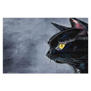 Decorative Floor Covering Mats   Patti Schermerhorn - Boo Black Cat   Animal Halloween