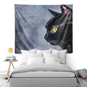 Artistic Wall Tapestry | Patti Schermerhorn - Boo Black Cat | Animal Halloween