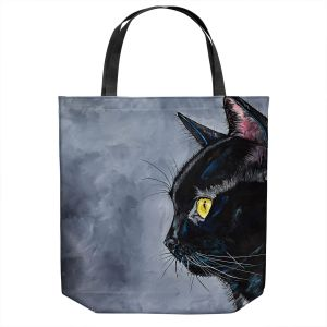 Unique Shoulder Bag Tote Bags | Patti Schermerhorn - Boo Black Cat | Animal Halloween