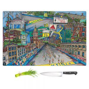 Artistic Kitchen Bar Cutting Boards | Patti Schermerhorn - Boston Strong | City Marathon Massachusetts
