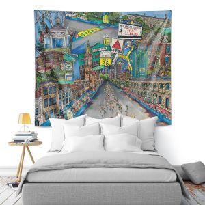 Artistic Wall Tapestry   Patti Schermerhorn - Boston Strong   City Marathon Massachusetts