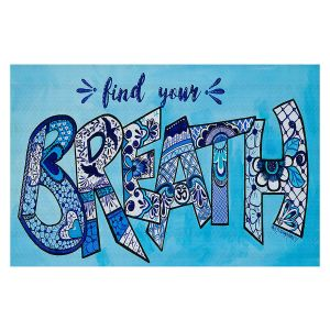 Decorative Floor Covering Mats | Patti Schermerhorn - Breath | Typographpy Inspirational