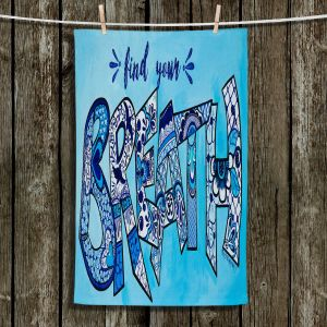 Unique Bathroom Towels | Patti Schermerhorn - Breath | Typographpy Inspirational