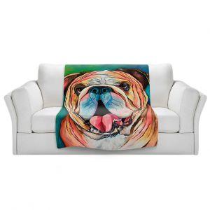 Artistic Sherpa Pile Blankets   Patti Schermerhorn - Bulldog XXOO   Animal Dog