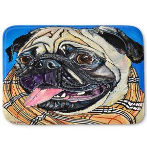 Decorative Bathroom Mats | Patti Schermerhorn - Burberry Love Bug | Dog Animal Scarf