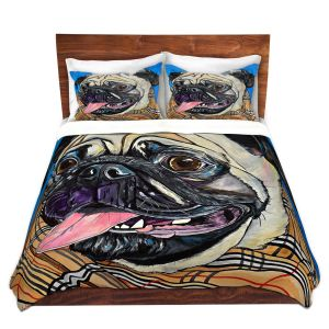 Artistic Duvet Covers and Shams Bedding | Patti Schermerhorn - Burberry Love Bug | Dog Animal Scarf