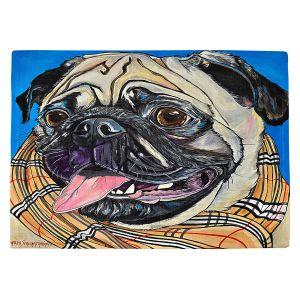 Countertop Place Mats | Patti Schermerhorn - Burberry Love Bug | Dog Animal Scarf