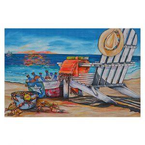 Decorative Floor Covering Mats | Patti Schermerhorn - Cerveza Beach | ocean coast summer beer