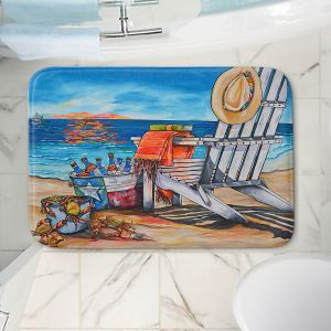 Decorative Bathroom Mats | Patti Schermerhorn - Cerveza Beach | ocean coast summer beer
