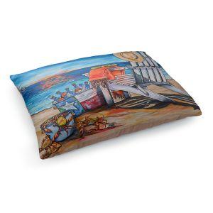 Decorative Dog Pet Beds | Patti Schermerhorn - Cerveza Beach | ocean coast summer beer