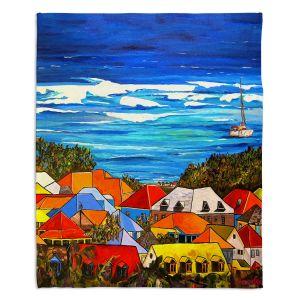 Artistic Sherpa Pile Blankets | Patti Schermerhorn Colors of St. Martin