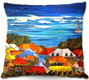 Throw Pillows Decorative Artistic | Patti Schermerhorn Colors of St. Martin