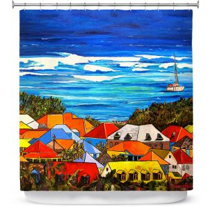 Premium Shower Curtains | Patti Schermerhorn Colors of St. Martin