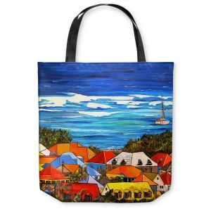 Unique Shoulder Bag Tote Bags | Patti Schermerhorn Colors of St. Martin