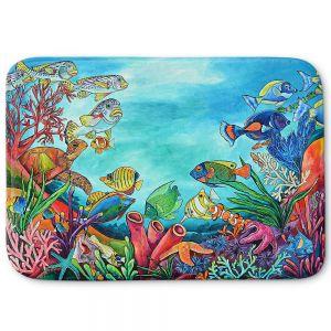 Decorative Bathroom Mats | Patti Schermerhorn - Coral Reef