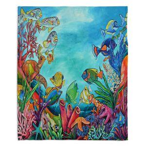 Decorative Fleece Throw Blankets | Patti Schermerhorn - Coral Reef