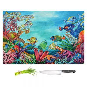 Artistic Kitchen Bar Cutting Boards   Patti Schermerhorn - Coral Reef