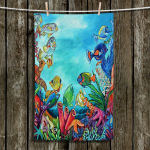 Unique Hanging Tea Towels | Patti Schermerhorn - Coral Reef | Ocean Fish