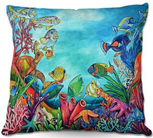 Decorative Outdoor Patio Pillow Cushion | Patti Schermerhorn - Coral Reef