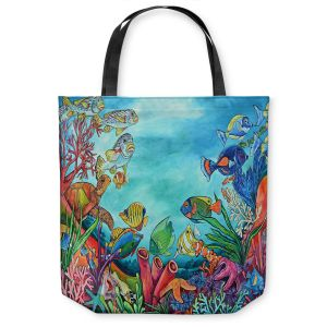 Unique Shoulder Bag Tote Bags | Patti Schermerhorn - Coral Reef